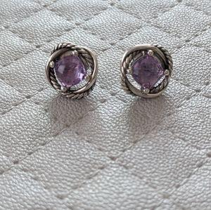 Amethyst David Yurman Infinity Earrings